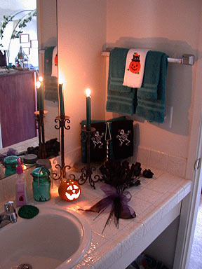 Hall 2 Master Bathroom Halloween 2002 Decorations  Best Home Ideas