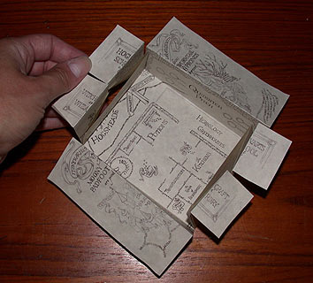 Marauders' Map 2005 - two layers unfolded
