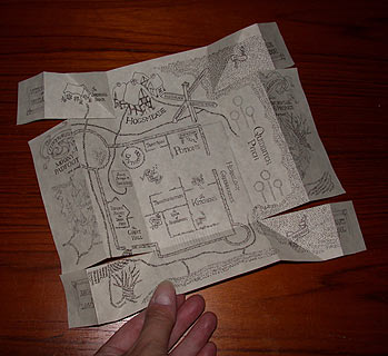 photograph about Marauders Map Printable called Yr 6 at Hogwarts - The Marauders Map