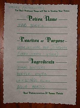 The Hogwarts Celebration - The Potions